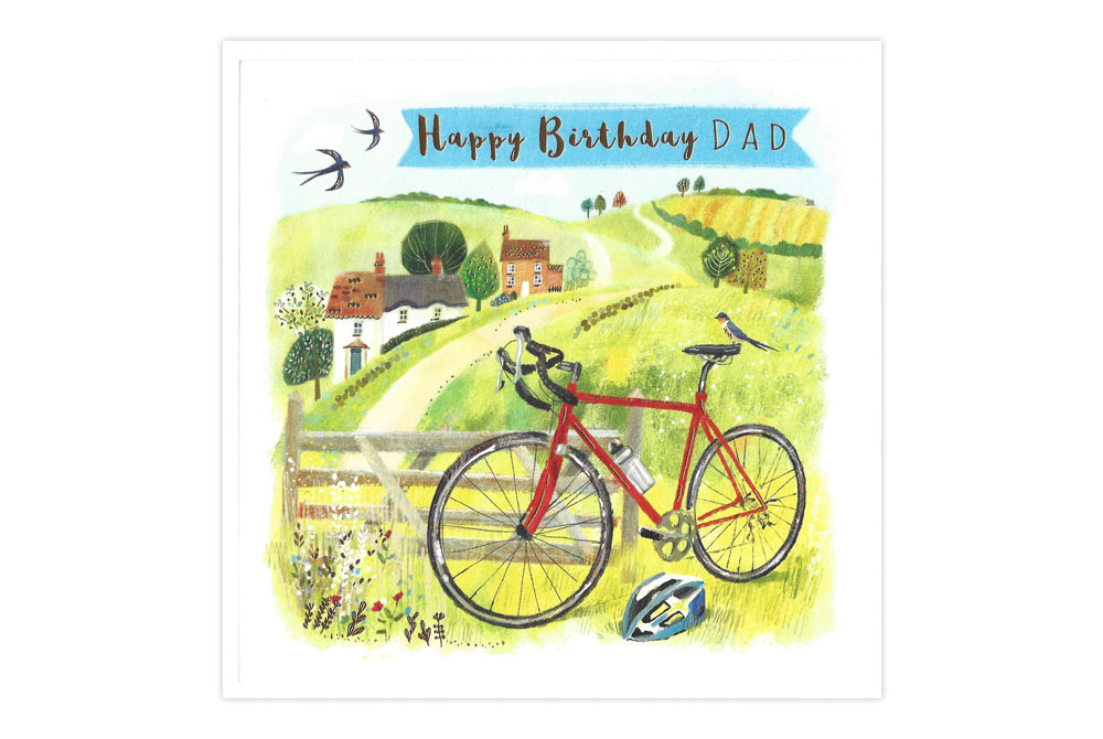 Dad Bicycle Birthday Card
