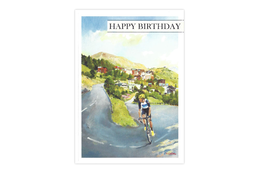 Wiggo Racing Bicycle Birthday Card