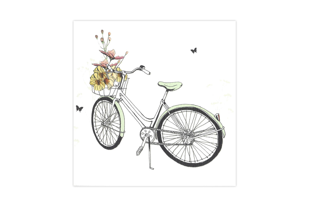 Flower Bicycle Notelets x 8