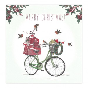 Merry Christmas Bicycle Card