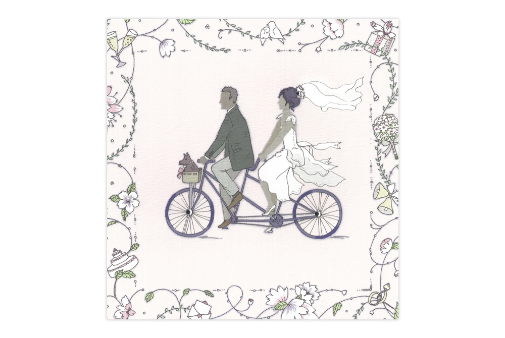 Wedding Tandem Card