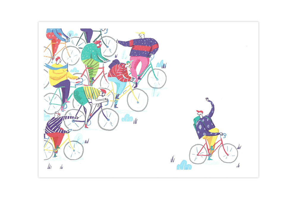 Let's Ride Bicycle Greeting Card