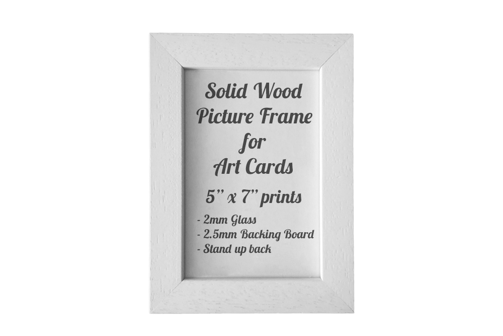 White Picture Frame for 5″ x 7″ Greeting Cards