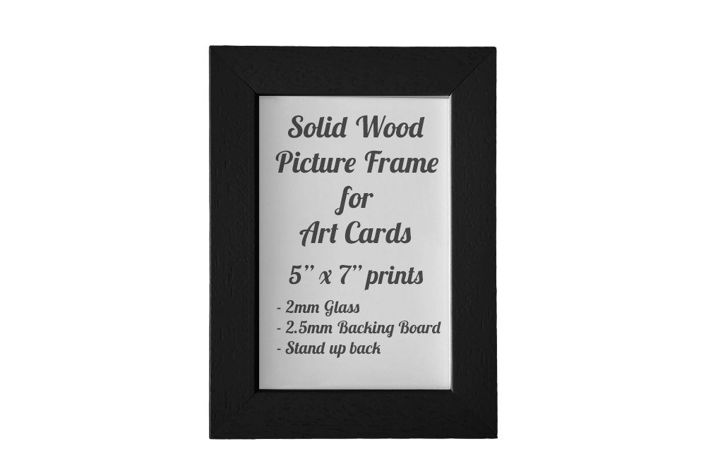 Black Picture Frame for 5″ x 7″ Greeting Cards