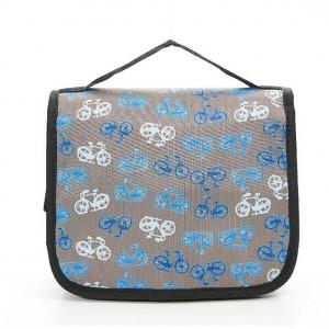 Grey Vintage Toiletry Bicycle Wash Bag