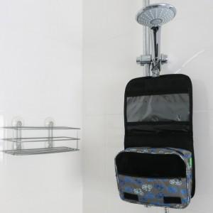 Grey Vintage Hanging Toiletry Bicycle Wash Bag
