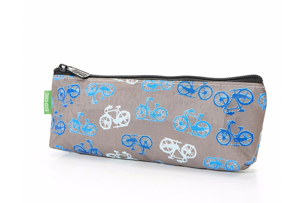 Grey Vintage Bicycle Pencil Case