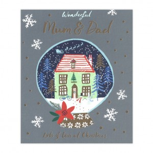 Mum and Dad Bicycle Christmas Card