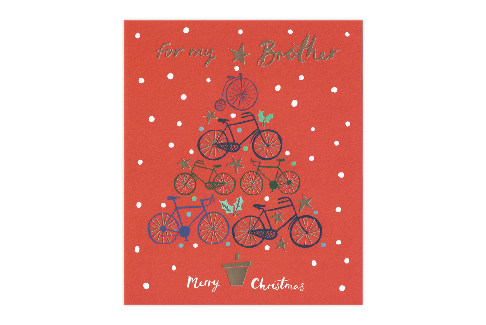 For my Brother Bicycle Christmas Card