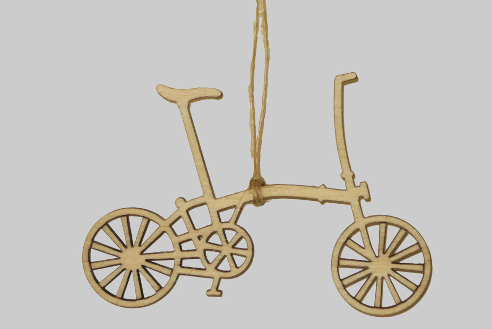Wooden Brompton Bicycle Decorations