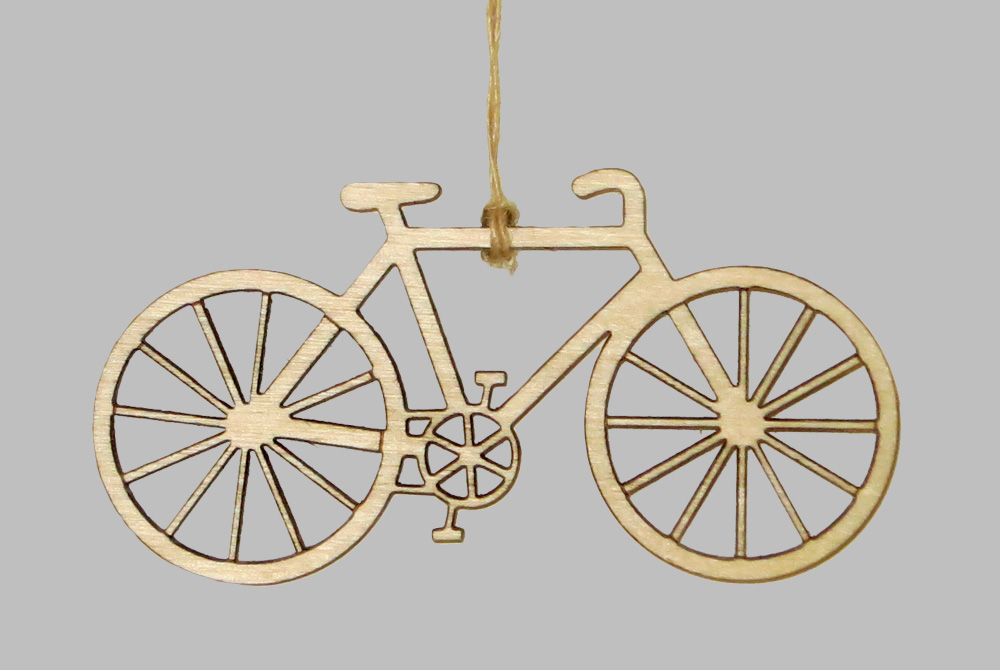 Wooden City Bicycle Decorations