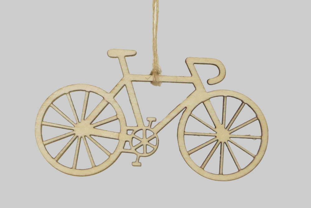 Wooden Racing Bicycle Decorations