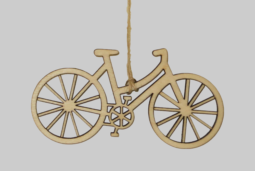 Wooden Shopper Bicycle Decorations