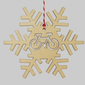 Wooden Snowflake Christmas Bicycle Decorations