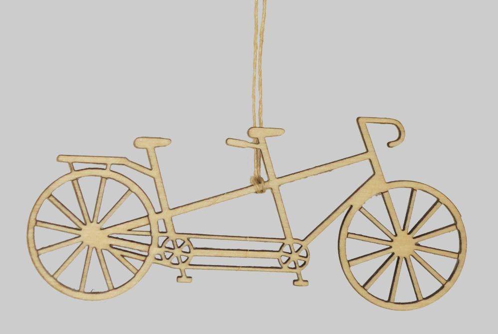 Wooden Tandem Bicycle Decorations