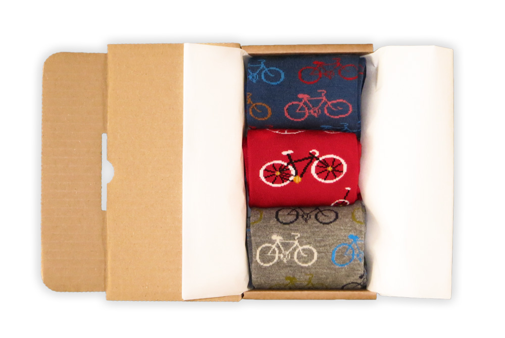 Men's Bicycles in a Box Socks Gift Box