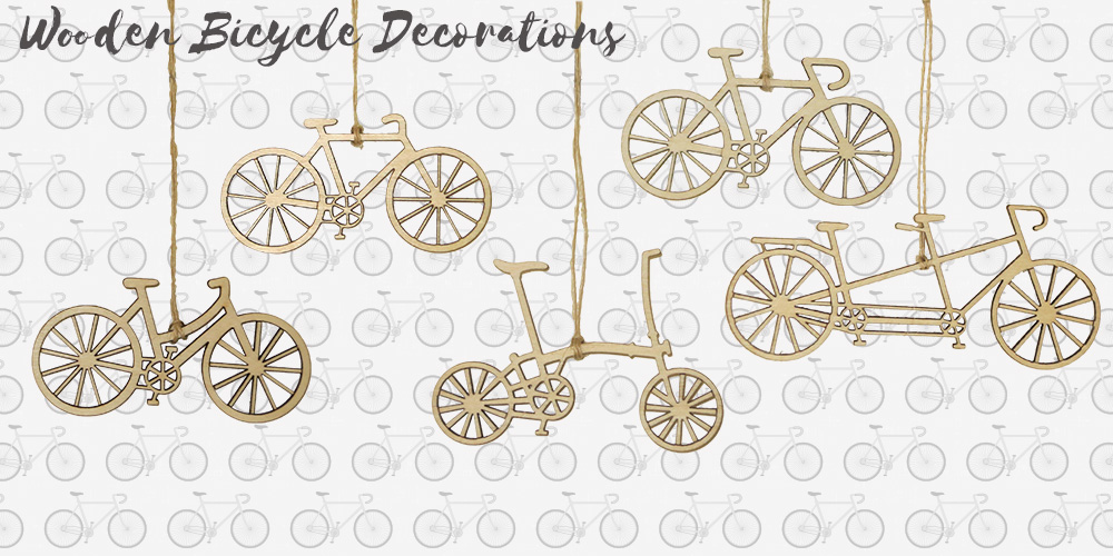 Wooden Bicycle Decorations