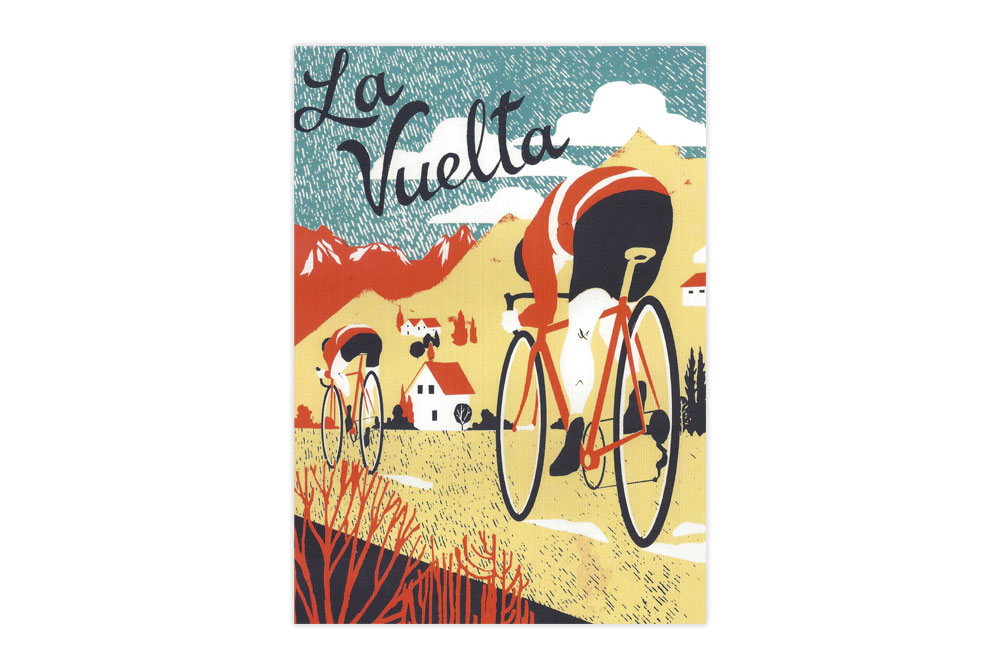 La Vuelta Bicycle Greeting Card
