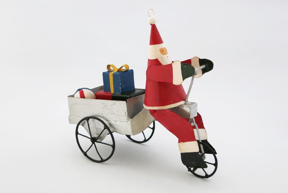 Bicycle Christmas Decoration – Santa, presents and ball