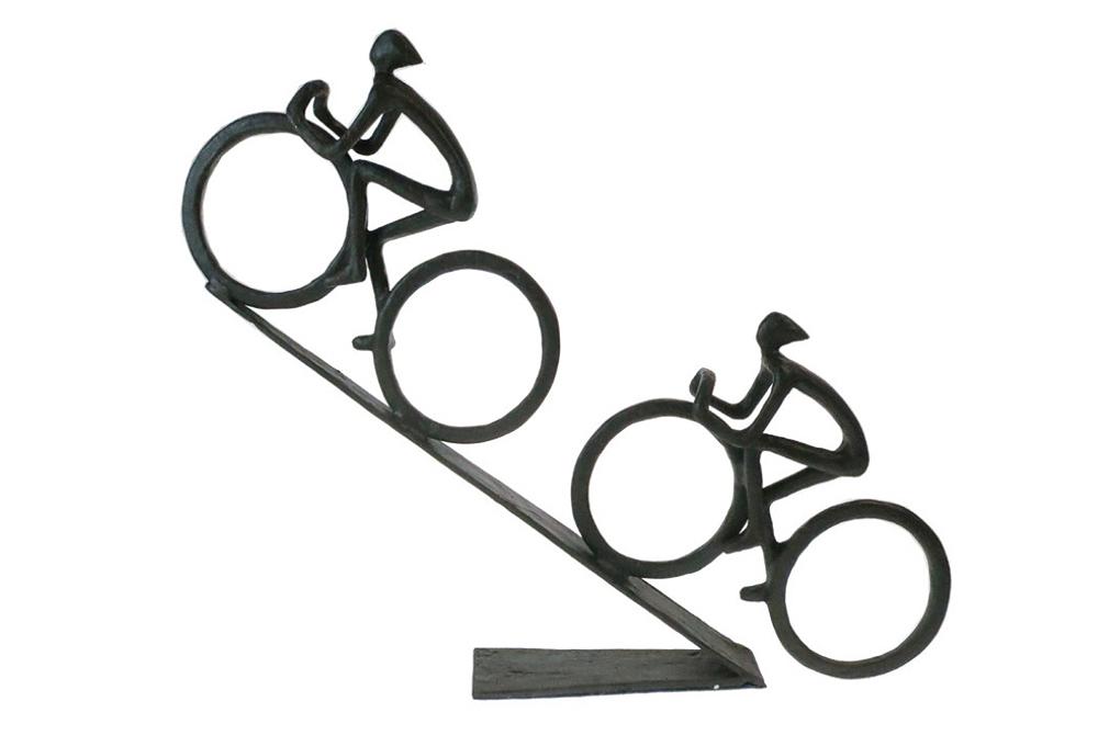 Hill Climb Racing Cyclists Bicycle Sculpture