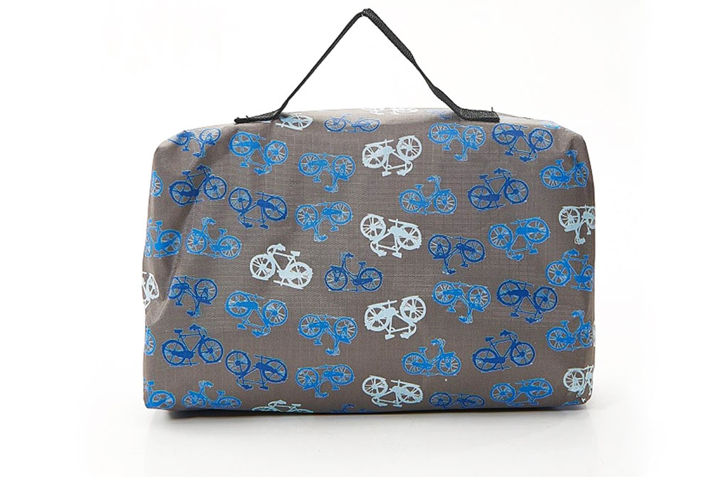 Grey Vintage Bicycle Picnic Blanket