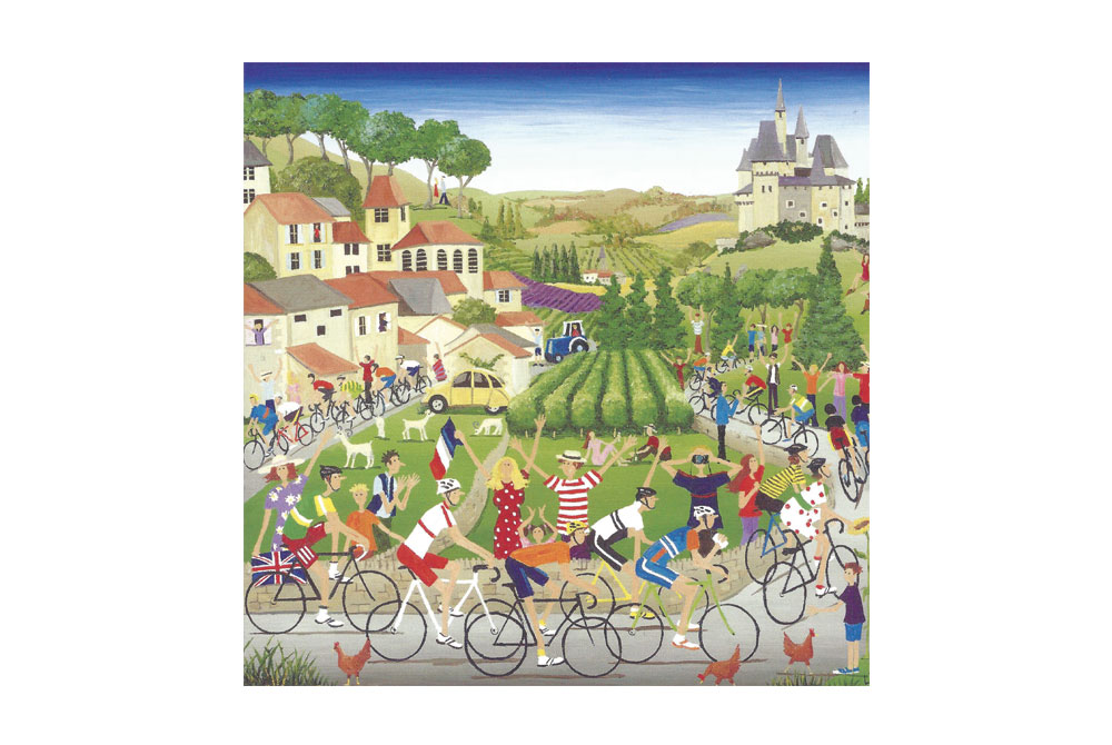 Tour de France Bicycle Greeting Card