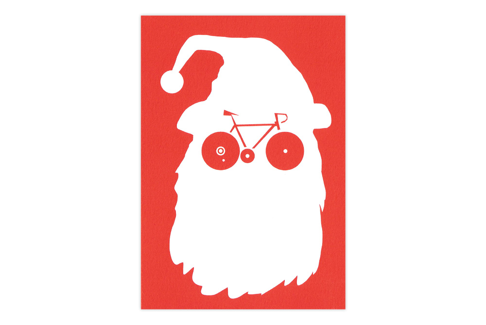Bikeface Bicycle Christmas Card – Simon Spilsbury