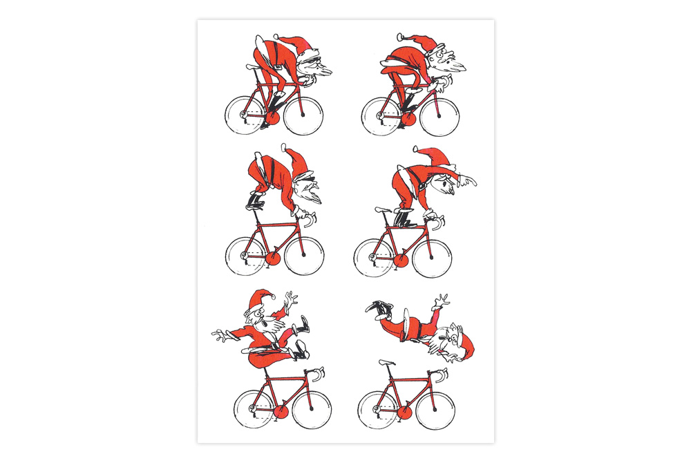 Santa Bicycle Christmas Card – Simon Spilsbury