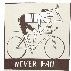Never Fail To Hail Cycling Screen Print by Beach-O-Matic
