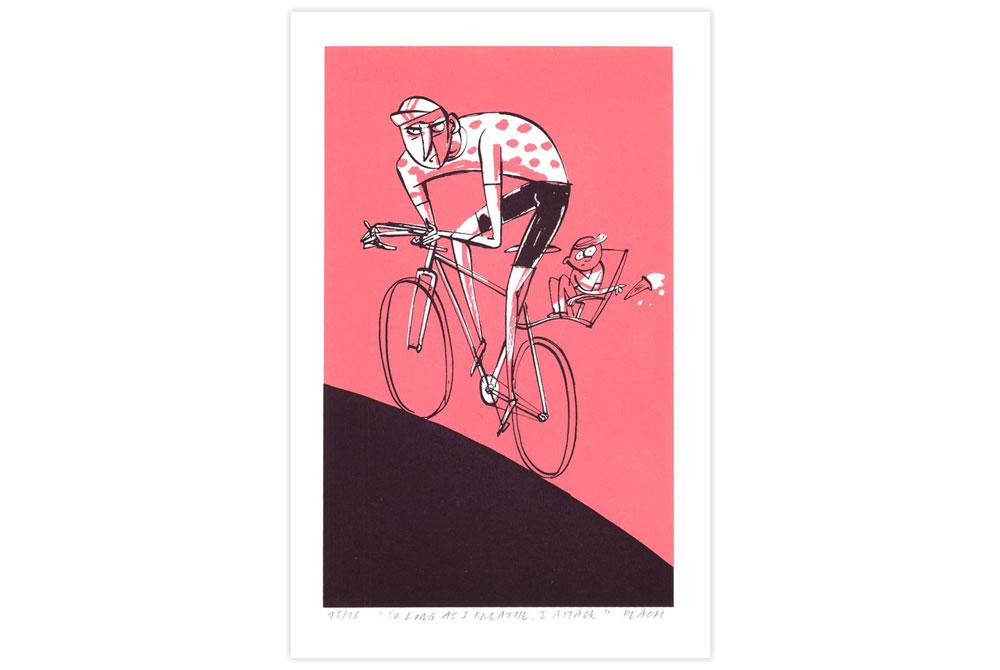 So Long as I Breathe Cycling Screen Print by Beach-O-Matic
