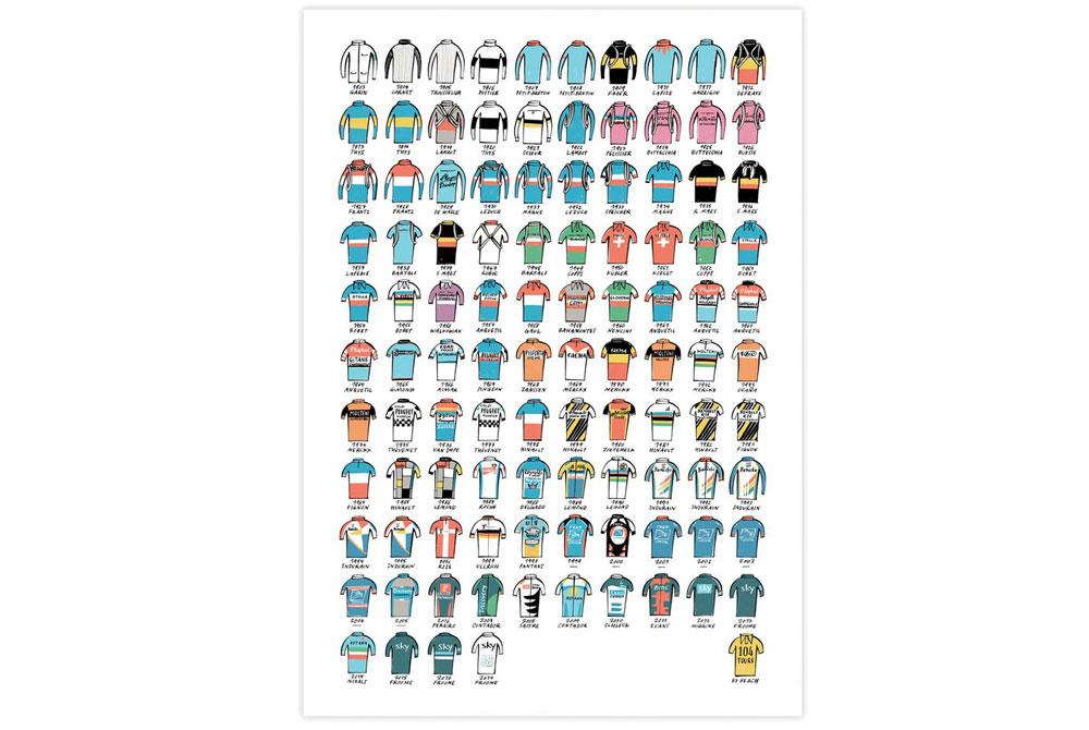 Tour de France 104 Litho Print by Beach o matic