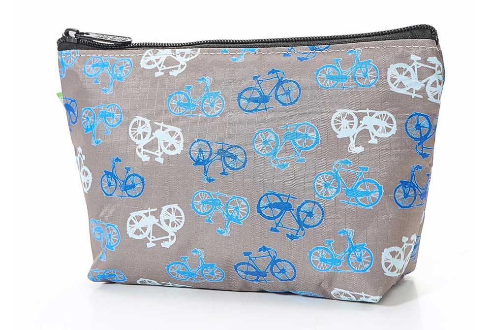 Grey Vintage Bicycle Make Up Bag