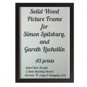 Black Picture Frame for A3 prints