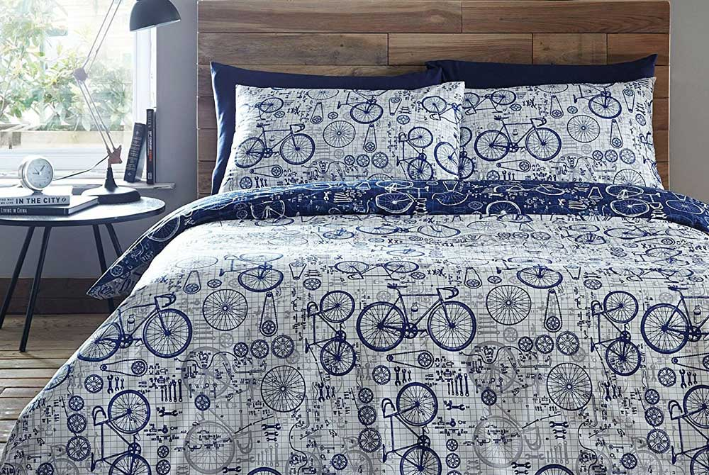 Velo King Size Bicycle Duvet Set