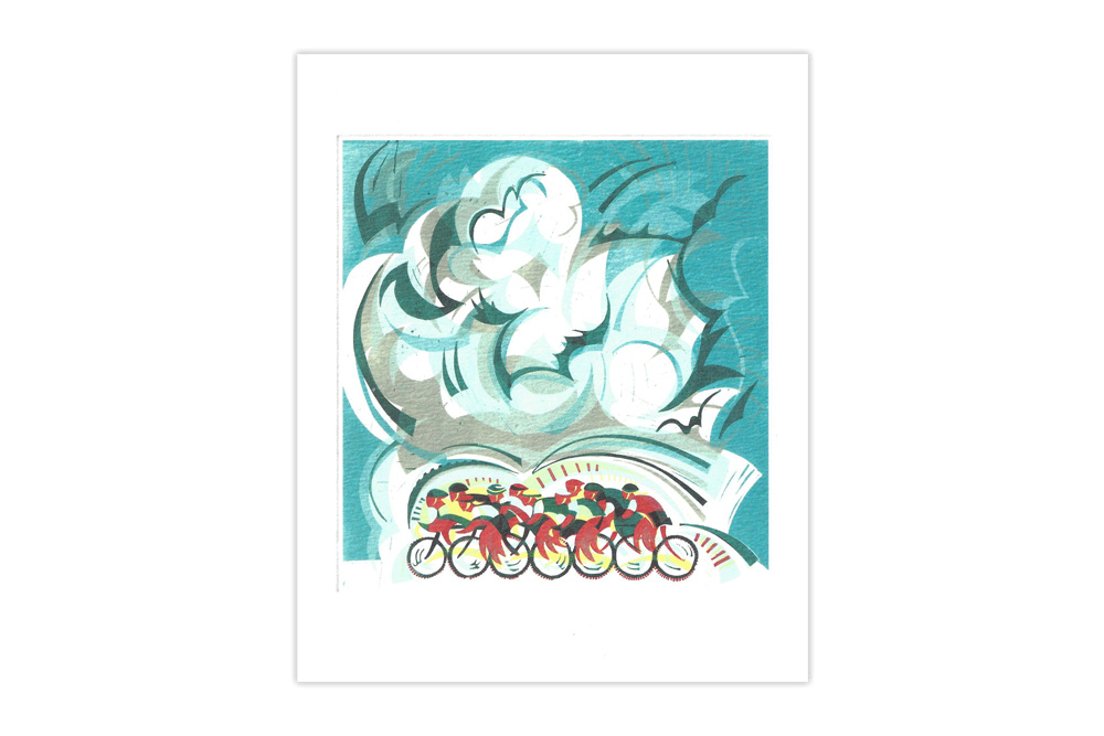 Beautiful Ride Bicycle Greeting Card by Paul Cleden