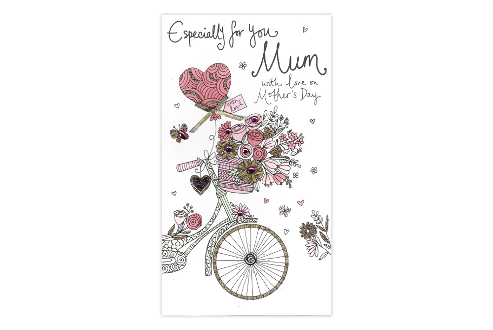 Especially for you Bicycle Mother's Day Card