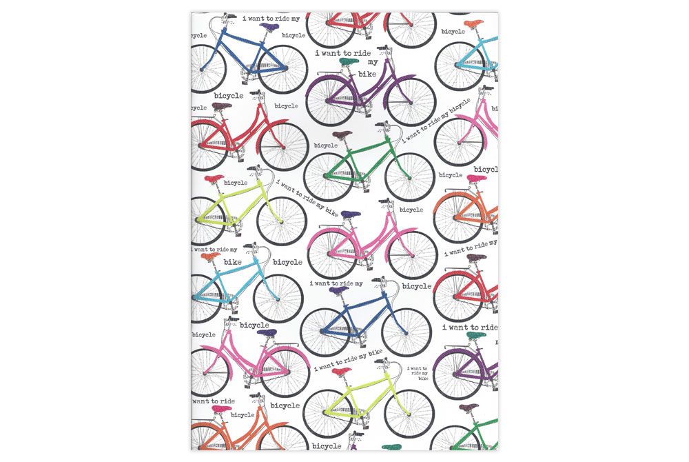 I Want to Ride my Bicycle A4 Notebook