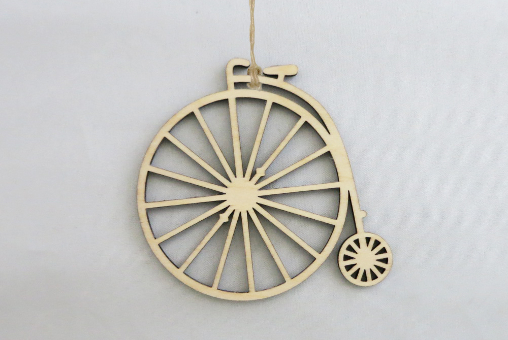 Wooden Penny Farthing Bicycle Decorations
