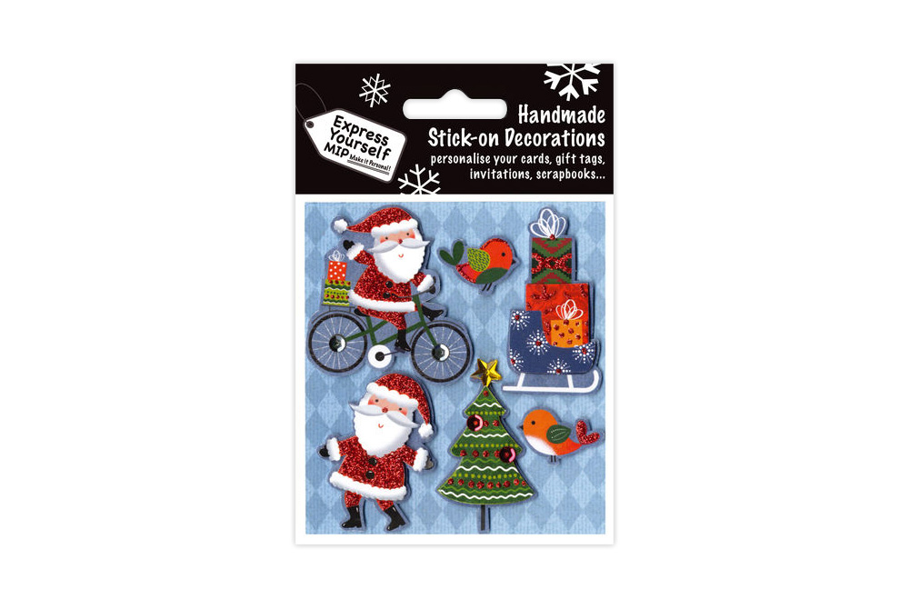 Stick on Bicycle Christmas Toppers Decorations