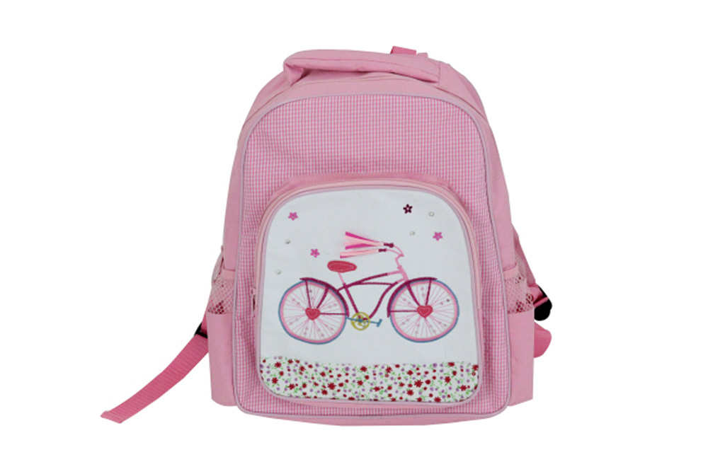Embroidered Bicycle Mini Backpack