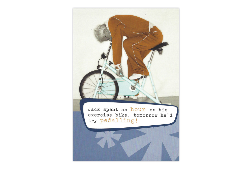 Exercise Bicycle Birthday Card