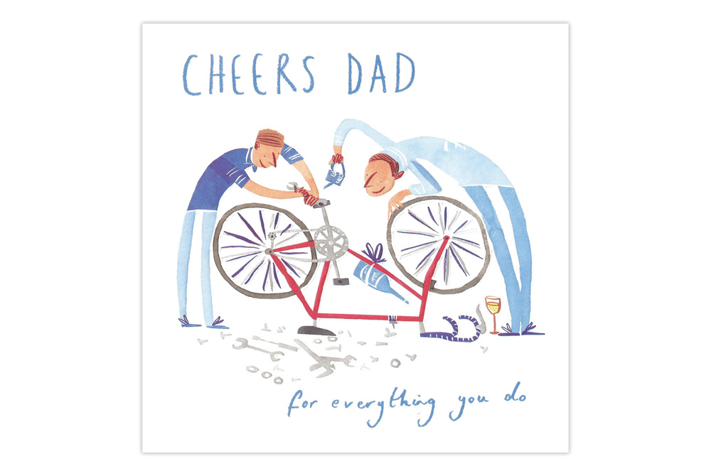 Cheers Dad – Bicycle Father's Day Card