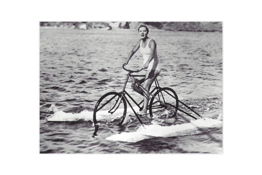 Sea Bicycle Greeting Card
