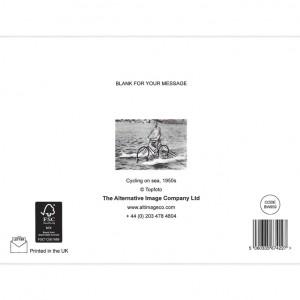 Sea Bicycle Greeting Card