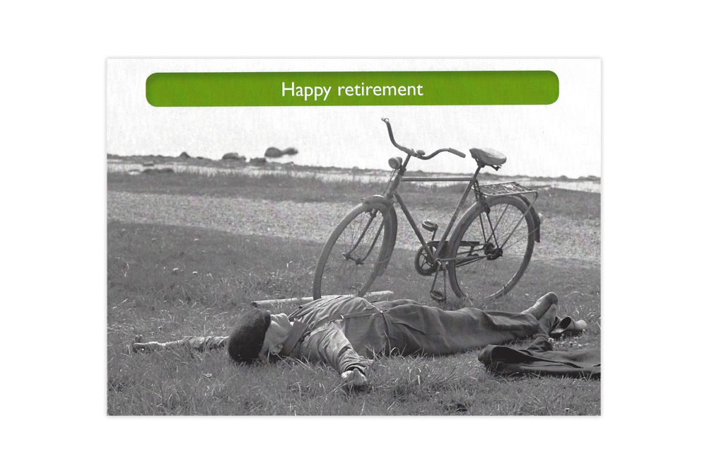 Happy Retirement Bicycle Greeting Card