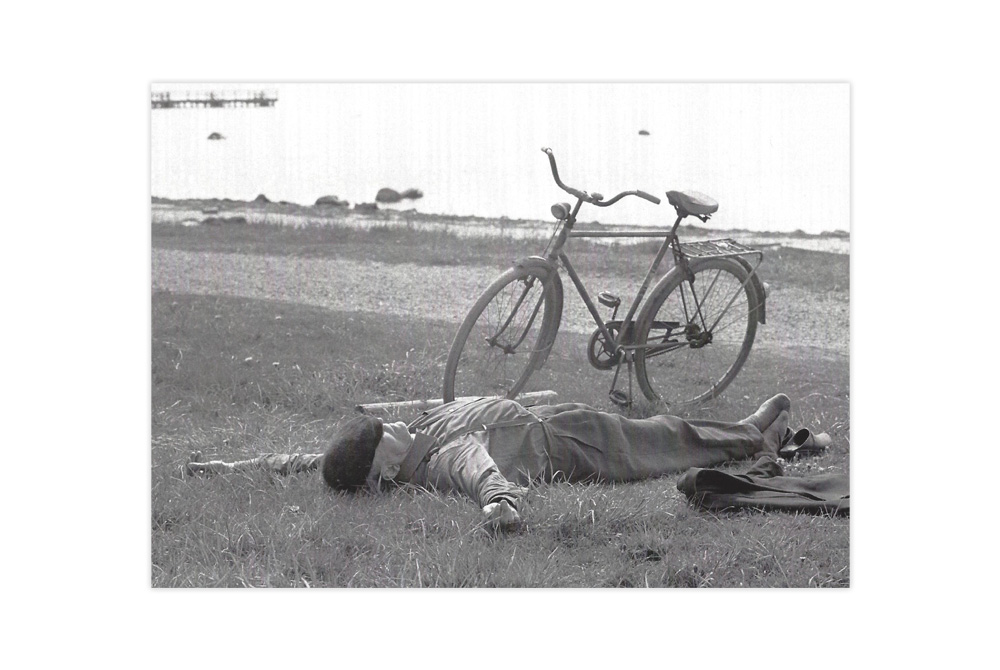 Taking a Nap Bicycle Greeting Card