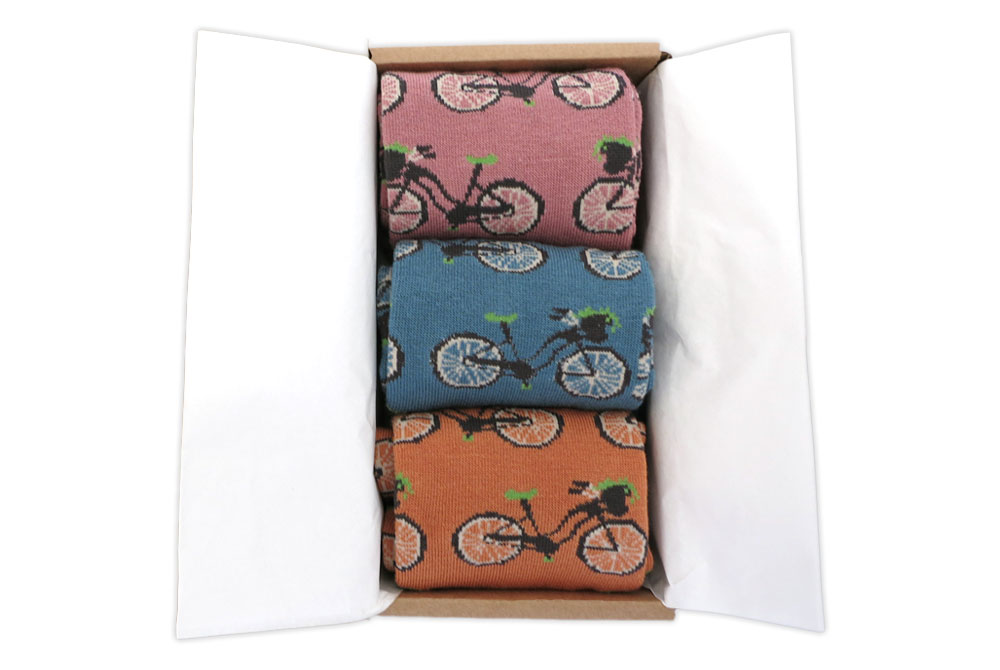 Women's Bicycles in a Box Socks Gift Box1