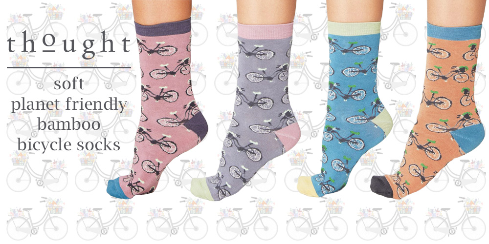 NEW - Women's Bamboo Bicycle Socks