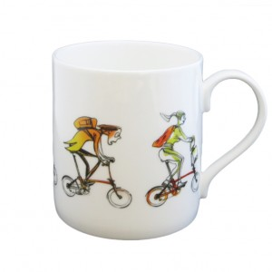 Brompton Buddies Mug - Simon Spilsbury for CycleMiles