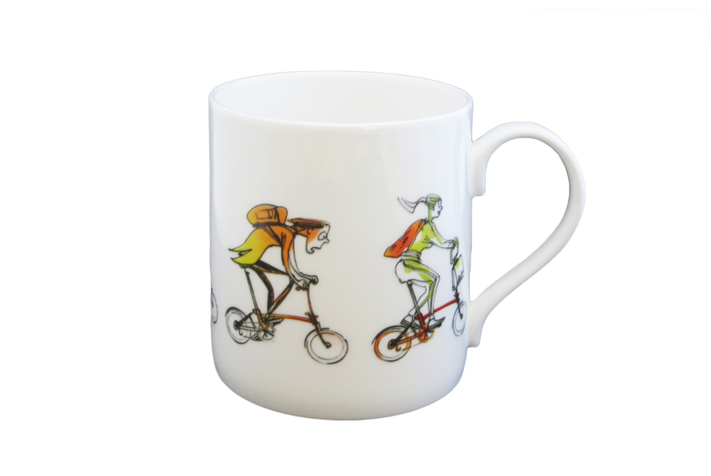 Brompton Buddies Mug – Simon Spilsbury for CycleMiles